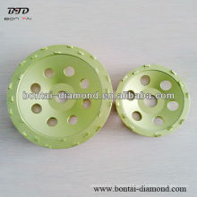 Small PCD grinding cup wheel for coating removal, expoxy and paint