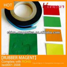 Flexible rubber magnet sheet for magnetic door catch