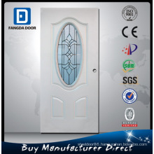 Oval Design Glass Steel Door Inserts