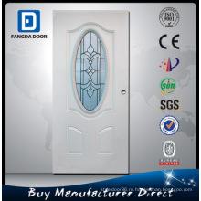 Овальный Дизайн Стекла Стальные Двери Вставляет