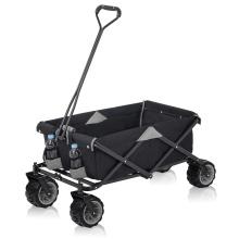 Carro de vagón plegable de 4 ruedas con carro de jardín portátil