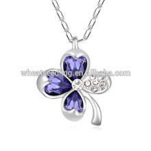 Кристалл повезло четыре листа клевера ожерелье