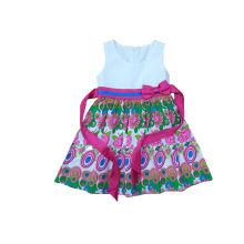 2016 nova saia do projeto para a menina, roupa popular das crianças no vestido (SQD-116)