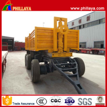 3 Axles Backward Self-Dumping Full Trailer with Drawbar