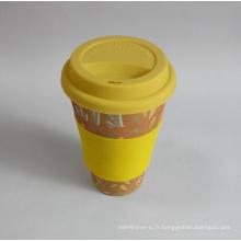 (BC-C1038) Eco Bamboo Fiber Coffee Cup avec impression