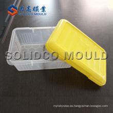 Caja de almuerzo de plástico Molde y caja de almuerzo de pared delgada Moldes de caja de almuerzo Molde e inyección