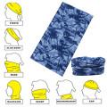 El camuflaje azul promocional imprimió el pañuelo inconsútil de encargo de la máscara del ante del estilo