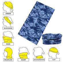Рекламные синие камуфляжные печатные пользовательские бесшовные модели Buff Mask Neckerchief