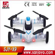 Alta Calidad Syma X9 Fly Car 2.4G 4CH Control Remoto RC Quadcopter Helicóptero Drone Tierra / Cielo 2 Función en 1 UFO SJY-X9