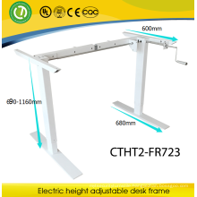 manually lifting desk Rocker arm lifting office furniture Sit & Standing height ajustable desk