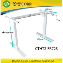 вручную поднимая рабочий стол коромысла подъема офисной мебелью Сит-энд-стоящая высота регулируемый рабочий стол