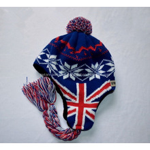 Promotional Flag Printed Winter Knitted Caps