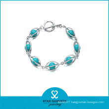 Sterling Silver Fancy Charm Bracelet (B-0003-1)