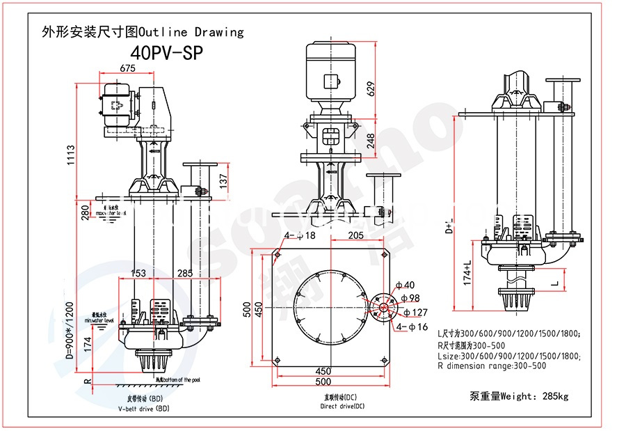 40mm Size Sump Slurry Pump