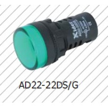 Lámpara indicadora de 22 mm, lámpara de señal de 16 mm, luz de señal, lámpara de incandescencia LED
