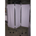 hospital Bed screen on castors ,Hospital bed side three fold medical folding screen
