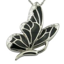 Bijoux en émail pour pendentif en papillon en acier