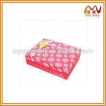 Boîte cadeau en flocon de neige, personnalisée toutes sortes d'emballages en boîte