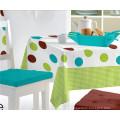 PVC-bedruckte Muster Tischdecke mit Vlies / Spunlace Unterstützung (TJ0760)