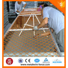 PVC chain link fence/construction chain link temporary fence