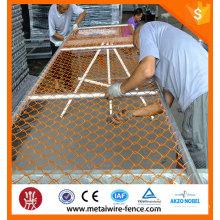 PVC cadeia link cerca / construção cadeia link temporária cerca