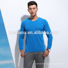 man's 100% cashmere V neck sweater