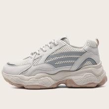 2021 mesh and side PU match lady sneaker
