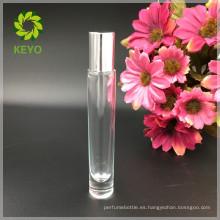 Cosmético de cristal transparente skincare barba perfume aceite blanco vidrio rodillo botellas aceite esencial 10 ml para embalaje