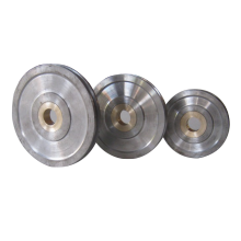 OEM  Industrial Forged Steel Concrete Cement Mixer rope pulley Wheels  pulley with bearings