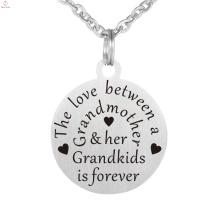 Personalizado foto personalizado encanto letra alfabeto sello grabado colgante collar
