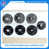 BLACK MALLEABLE IRON BSPT FLOOR / WALL FLANGE - PLATE