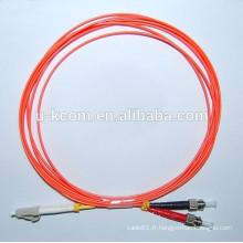 Cordon de raccordement à fibre optique duplex LC / ST MM