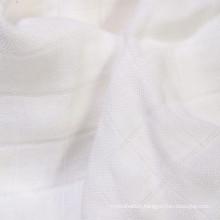 Bamboo/Organic Cotton Check Gauze Fabric