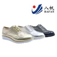 2016 nouvelles femmes mode plat confort populaire chaussures de sport (bf-612)