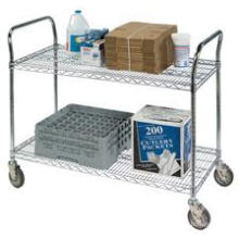 Grocery Cargo Mobile Push Metal Cart (BK753590A2CW)