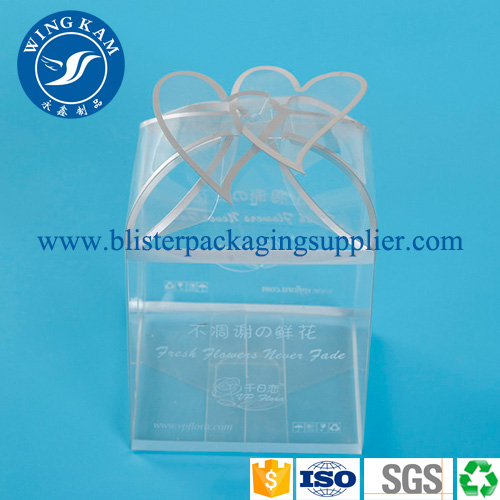 Large Clear PET Plastic Folding Box Protector Box for Toy Packing