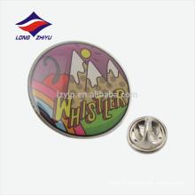 Insigne rond en cadeau epoxy personnalisé avec embrayage en caoutchouc