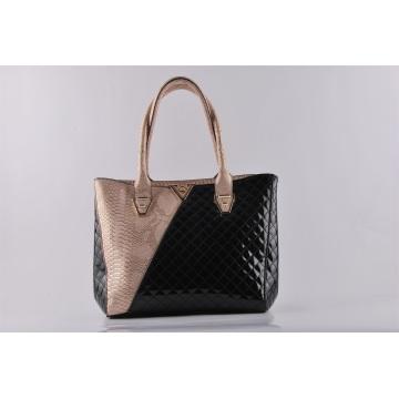 New Design Fashion PU Croco Matching Embroider Lady′s Shoulder Bag Hand Bag (NM-W03)