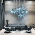 Professional custom unique living room crystal chandelier
