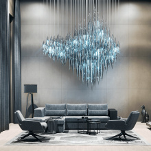 Luz de araña de cristal de sala de estar de lujo de estilo único personalizado profesional