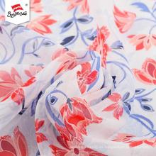 Vestido de tela impresa personalizada de poliéster de lujo