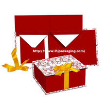 High Quality Folding Paper Cosmetic Box with Ribbon