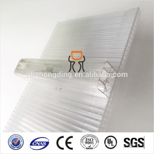 100% leaking-proof 600mm/1040mm width u-lock polycarbonate (PC) sheet