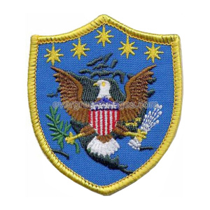 Custom shape Eagle Embroidered Badges
