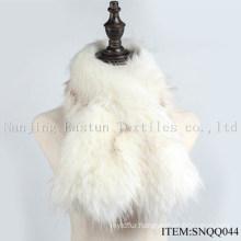 Faux Raccoon and Fox Fur Scarf Snqq044