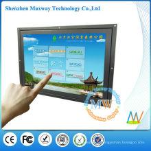 Entrada HDMI / VGA / DVI 15 polegadas touch screen monitor frame