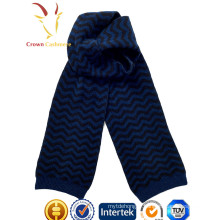Cachemire laine tricoté écharpe rayée vague sarf