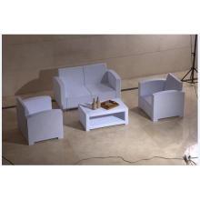 PE Material Sofá de pátio de plástico