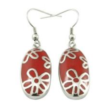 Weihnachtsgeschenk Ovaler Ohrring-Art- und Weiseohrring