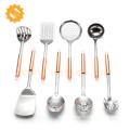 Gold utensils stainless steel kitchen accessories kitchen gadgets 8 pieces stainless steel kitchen utensil set